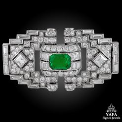 MAUBOUSSIN Diamond Emerald Brooch