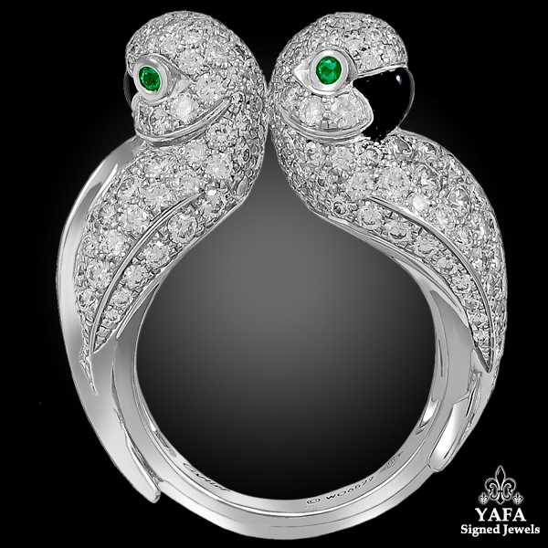 CARTIER Les Oiseaux Liberes Love Birds Parrot Ring