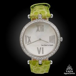 VAN CLEEF & ARPELS Diamond, Mother of Pearl Dial Watch