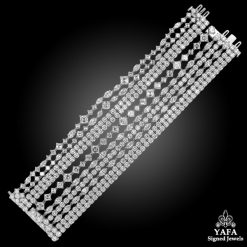 HARRY WINSTON Platinum Secret Ten Row Diamond Bracelet