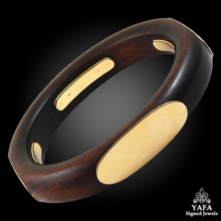 1970s VAN CLEEF & ARPELS Wood Bangle