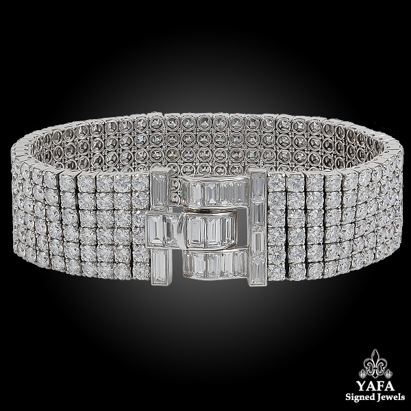VAN CLEEF & ARPELS Six Row Diamond Bracelet