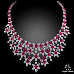 HARRY WINSTON Diamond, Pink Sapphire & Ruby Necklace