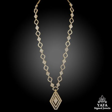 18k Yellow Gold Diamond Long Sautoir Necklace/Bracelet