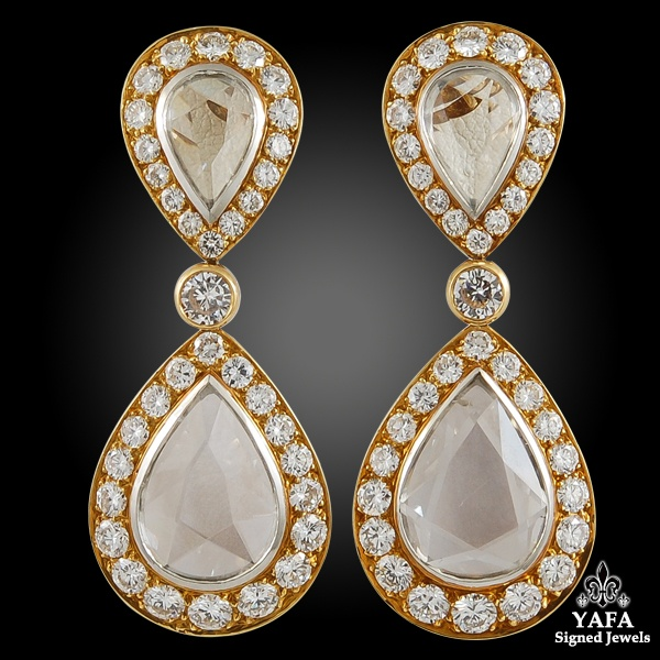 VAN CLEEF & ARPELS Pear-Shaped Diamond Necklace & Earrings