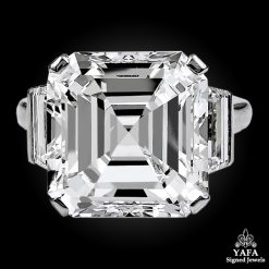 Platinum Emerald-Cut Diamond Ring - 11.38 cts.