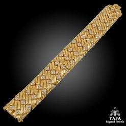 VAN CLEEF & ARPELS Yellow Gold Diamond Bracelet