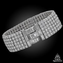 VAN CLEEF & ARPELS Platinum Six Row Diamond Bracelet