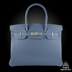 Hérmes 30cm Blue Brighton Birkin Bag