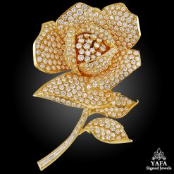 18k Yellow Gold Four Interchangeable Pistil Flower Brooch