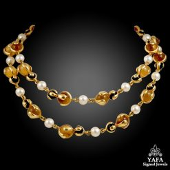 MARINA B. Quartz, Pearl & Onyx Necklace