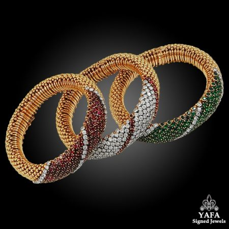 VAN CLEEF & ARPELS Three Gold Bracelets