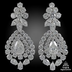 VAN CLEEF & ARPELS Diamond Detachable Ear Clips