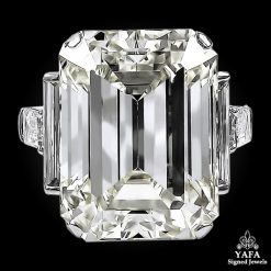 DAVID WEBB Emerald-Cut Diamond Engagement Ring - 52.55 cts.