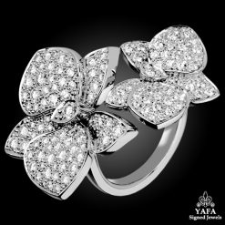 CARTIER Diamond Caresse D'Orchidees Ring