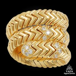 Bulgari Diamond Serpenti Ring - size 6