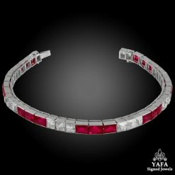BOUCHERON Diamond, Burma No-Heat Ruby Bracelet