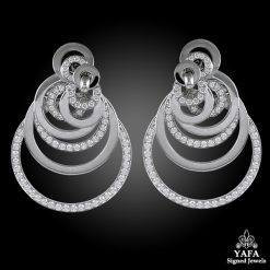 DE GRISOGONO Diamond Interlocking Circle Earrings