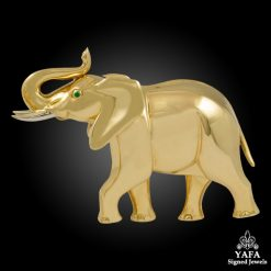 CARTIER 18k Gold Elephant Brooch