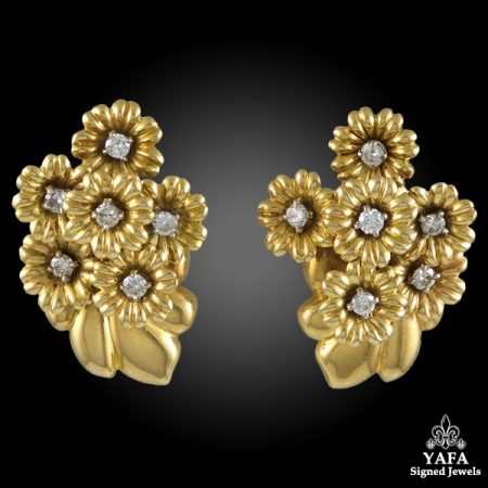 VAN CLEEF & ARPELS Diamond Bouquet Earrings
