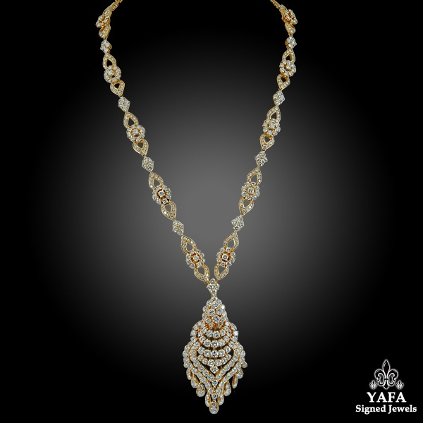 VAN CLEEF & ARPELS Diamond Tassel Gold Necklace/Bracelet