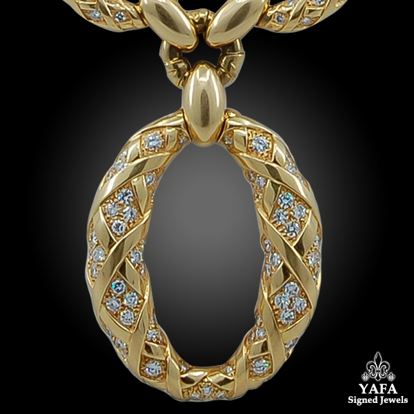 VAN CLEEF & ARPELS Diamond Long Chain Gold Necklace