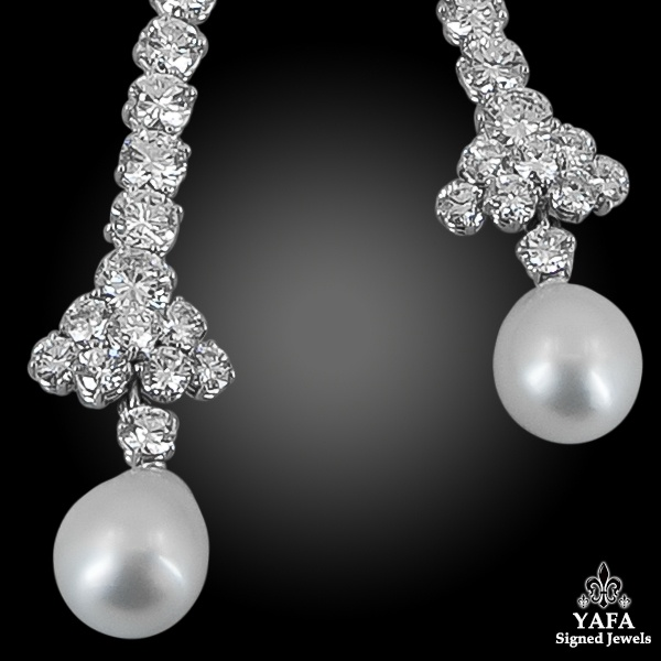 VAN CLEEF & ARPELS Diamond, Pearl Detachable Necklace