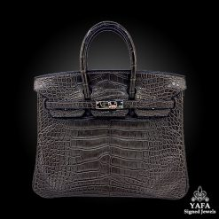 HERMES 25cm Crocodile Alligator Birkin Bag