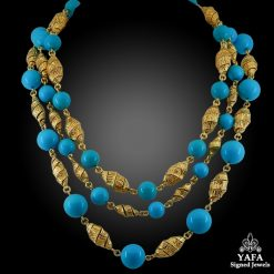 Van Cleef & ARPELS Turquoise Beads Sautoir Necklace
