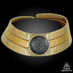 BULGARI Diamond Coin Choker Gold Necklace