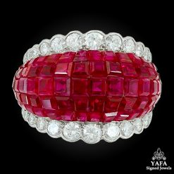 VAN CLEEF & ARPELS Diamond, Mystery-Set Ruby Dome Ring