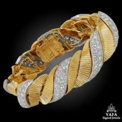 CARTIER Two Tone Diamond Bracelet