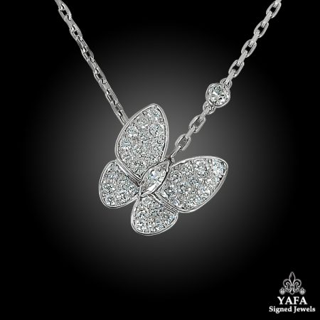 VAN CLEEF & ARPELS Diamond Butterfly Necklace