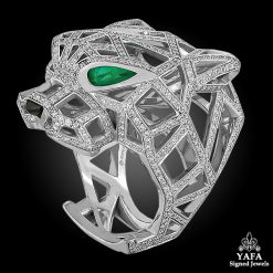 CARTIER Panthere Diamond Openwork Panther Head Ring