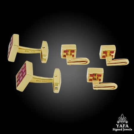 VAN CLEEF & ARPELS Mystery-Set Ruby Cufflinks