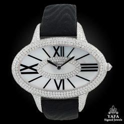 CHOPARD Diamond, Mother Of Pearl Oval-Shaped Watch