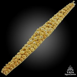 18k Gold Diamond Floral Bracelet