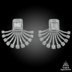 18K White Gold Diamond Illusion Setting Earrings