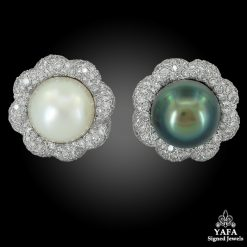 VERDURA Diamond, White & Grayish Earrings