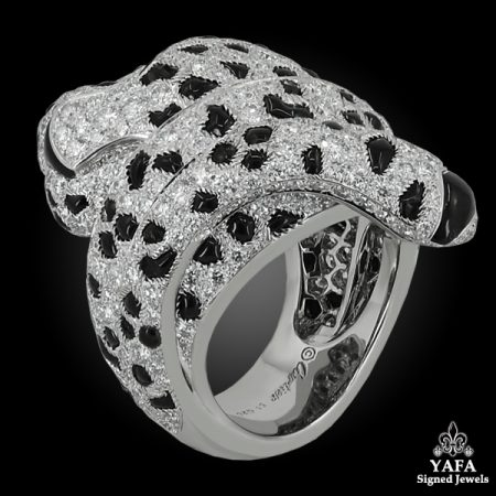 CARTIER Diamond, Onyx Panther Ring