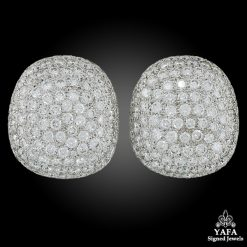 18k Gold Diamond Bombe Ear Clips