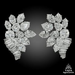 1960s HARRY WINSTON Diamond Ear Clips