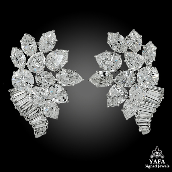 1960s HA1960s HARRY WINSTON Diamond Earrings