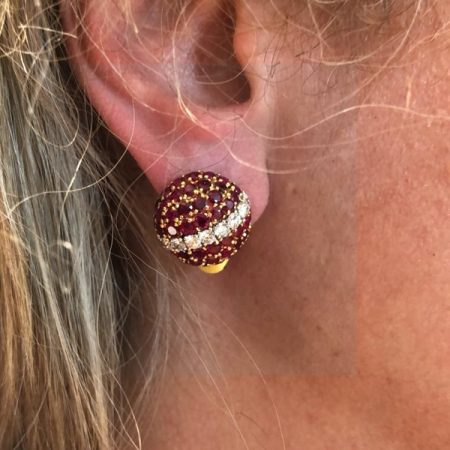 VAN CLEEF & ARPELS Province Ruby Bombe Earrings