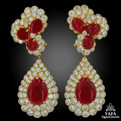 M.GERARD Diamond, Cabochon Ruby Detachable Earrings