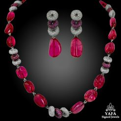 ADLER Diamond & Spinel Beads Necklace & Earrings
