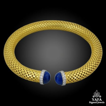 TIFFANY & Co. Diamond Lapis Lazuli Choker Necklace