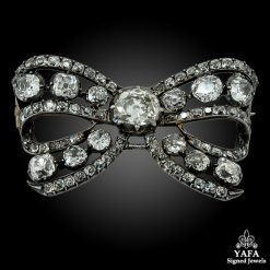 Victorian Diamond Bow Brooch