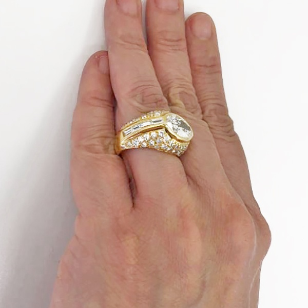 Marquise Diamond Dome Ring