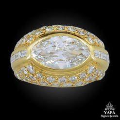 18k Yellow Gold Marquise Diamond Ring